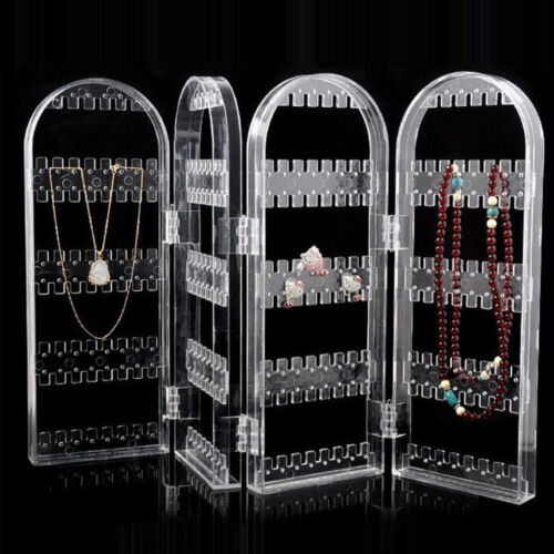 Clear Earrings Ear Studs Necklace Jewelry Display Rack Stand Organizer Holder