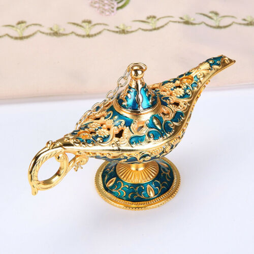 Aladdin Lamp Alloy Genie Wishing Retro Craft Creative Furnishing Festival Gift