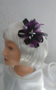 Stunning-cadbury-purple-black-fascinator-NEW