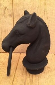 """Horse Head For Hitching Post Cast Iron 8 1/2"""" tall Stable Supplies 0170S-11617"""