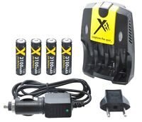 4aa Battery & 110/240v Ac/dc Charger For Kodak Easyshare C1505 C1550 C190 C182