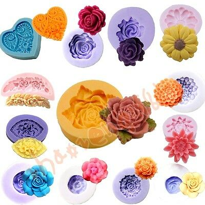 14 set 1Cavity Flower Silicone Mold Mould For Chocolate Craft Resin Clay Fondant