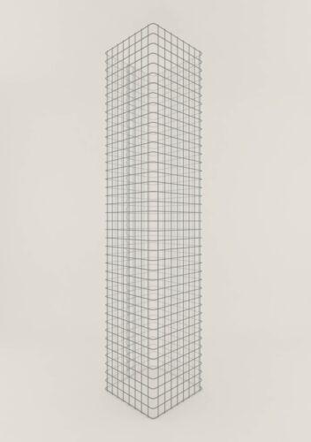 GABIONENSÄULE eckig 42 x 42 cm Maschenweite 5 x 5 cm Gabione//Säule Höhe 80 cm