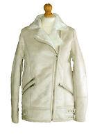 Womens Ladies Miss Selfridge Faux Suede/Fur Jacket/Cream Coat RRP £89
