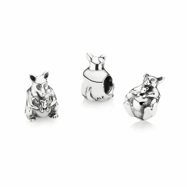 PANDORA Charm Sterling Silver ALE S925 KANGAROO 790534 RETIRED
