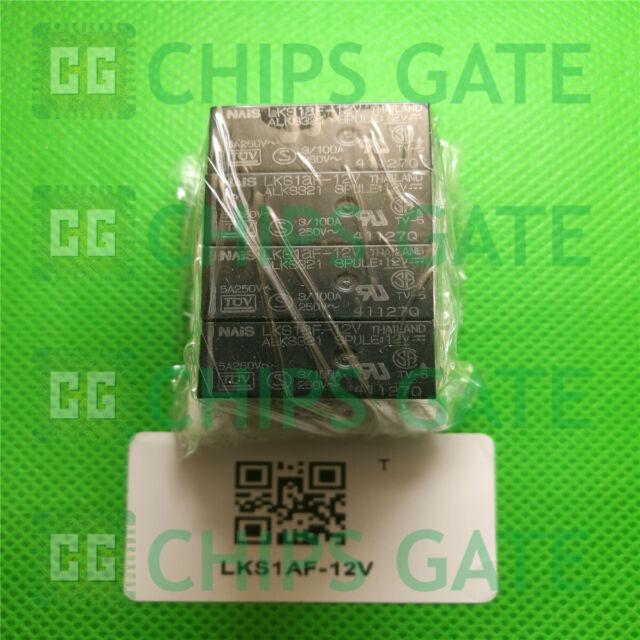 2PCS LKS1AF-12V DIP-4 General Purpose Relays 5A 12VDC SPST-NO FLUX RES PCB