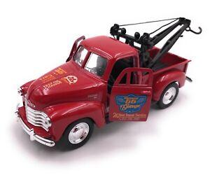 Voiture-miniature-CHEVROLET-Tow-Truck-Pic-Up-rouge-voiture-echelle-1-34-39-LGPL