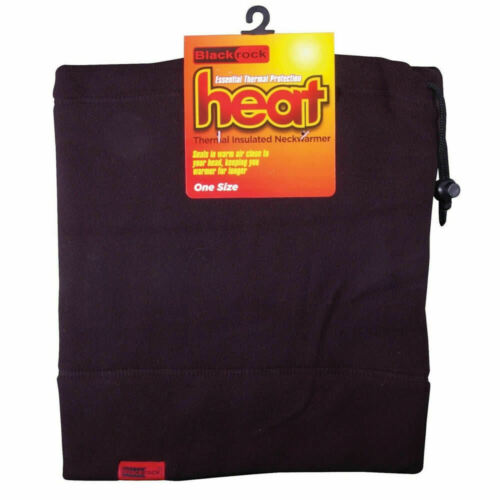 Thermal Neck Warmer Microfleece Blackrock Fleece Lined Vented Elastic Draw Cord