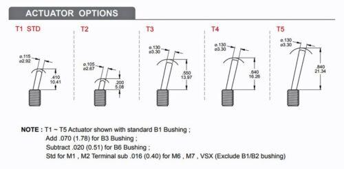5pc Miniature Toggle Switch 1MS1T1B4VS2QES On//On 3P SPDT 2A250V V-Bracket
