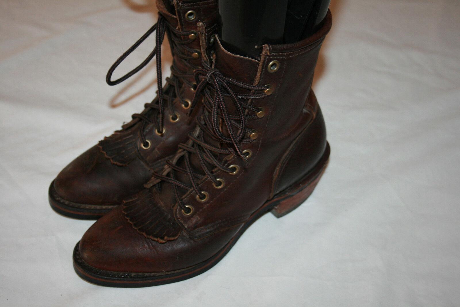 DD TUFF Leather Lacer Kiltie Packer Work Stiefel Größe US 7.5 N B C