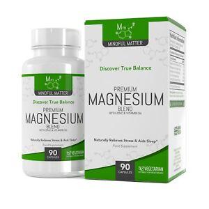 Magnesium-Mischung-90-Vegetarisches-Kapseln-Glycinat-Taurat-amp-Malat