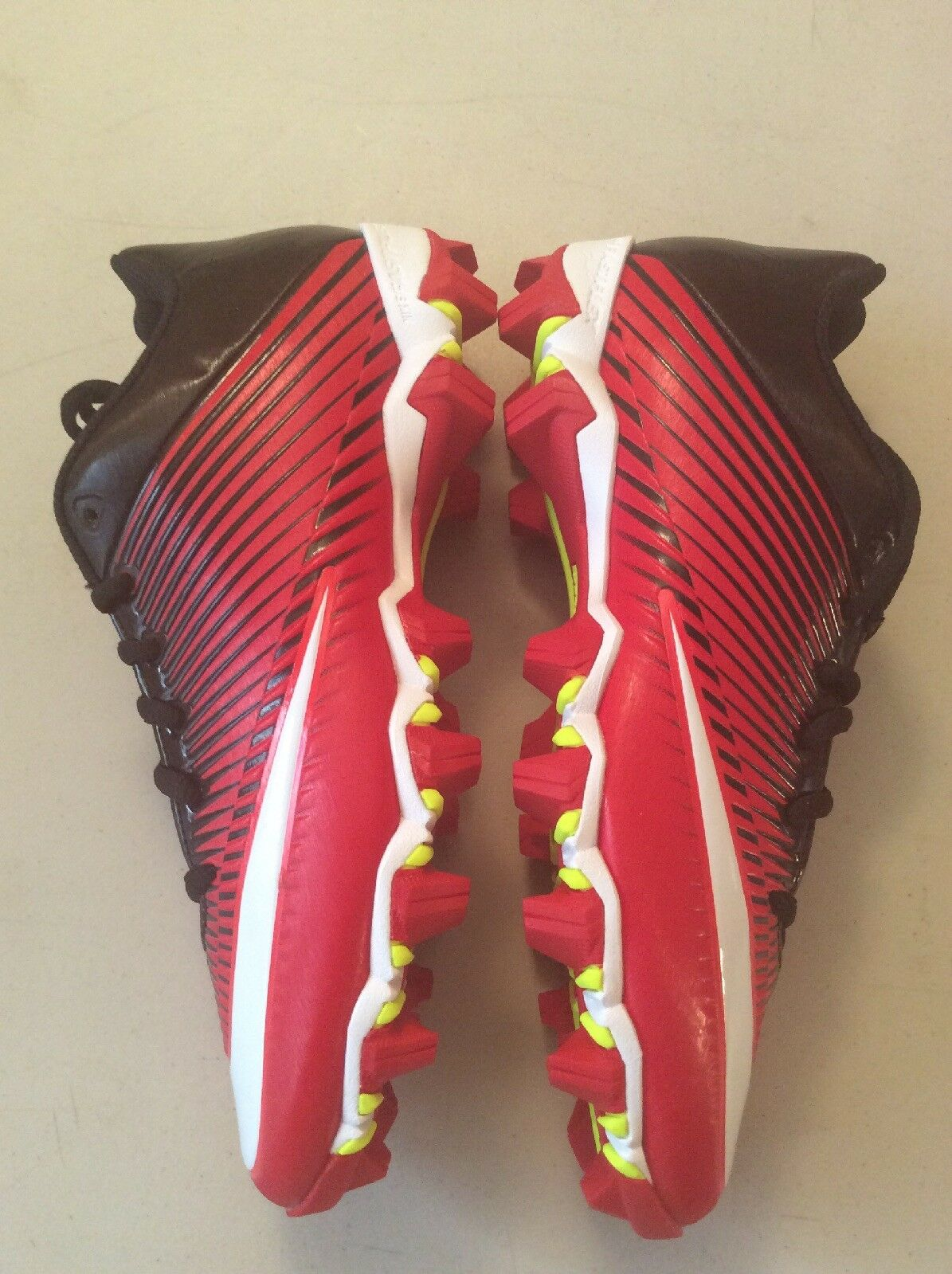 Nike Vapor Shark 2 Size 6.5 Red Red Red White Black Football Cleats 833391-610 Mens 20fba2