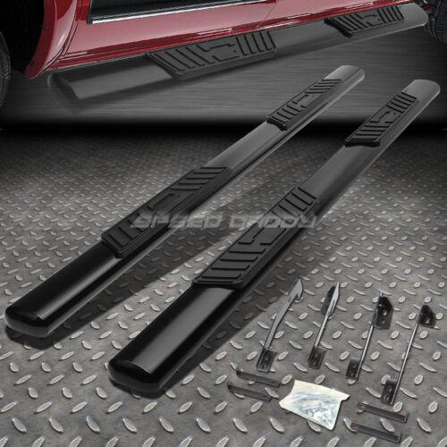 """FOR 98-02 DODGE RAM 4DR QUAD CAB 5/"""" BLACK OVAL SIDE STEP NERF BAR RUNNING BOARD"""