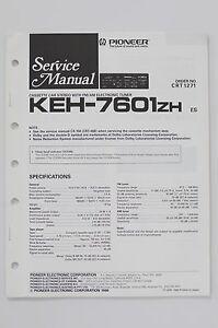 Tv, Video & Audio Mutig Pioneer Keh-7601zh Original Service-manual/anleitung/schaltplan O58 Durchblutung Aktivieren Und Sehnen Und Knochen StäRken