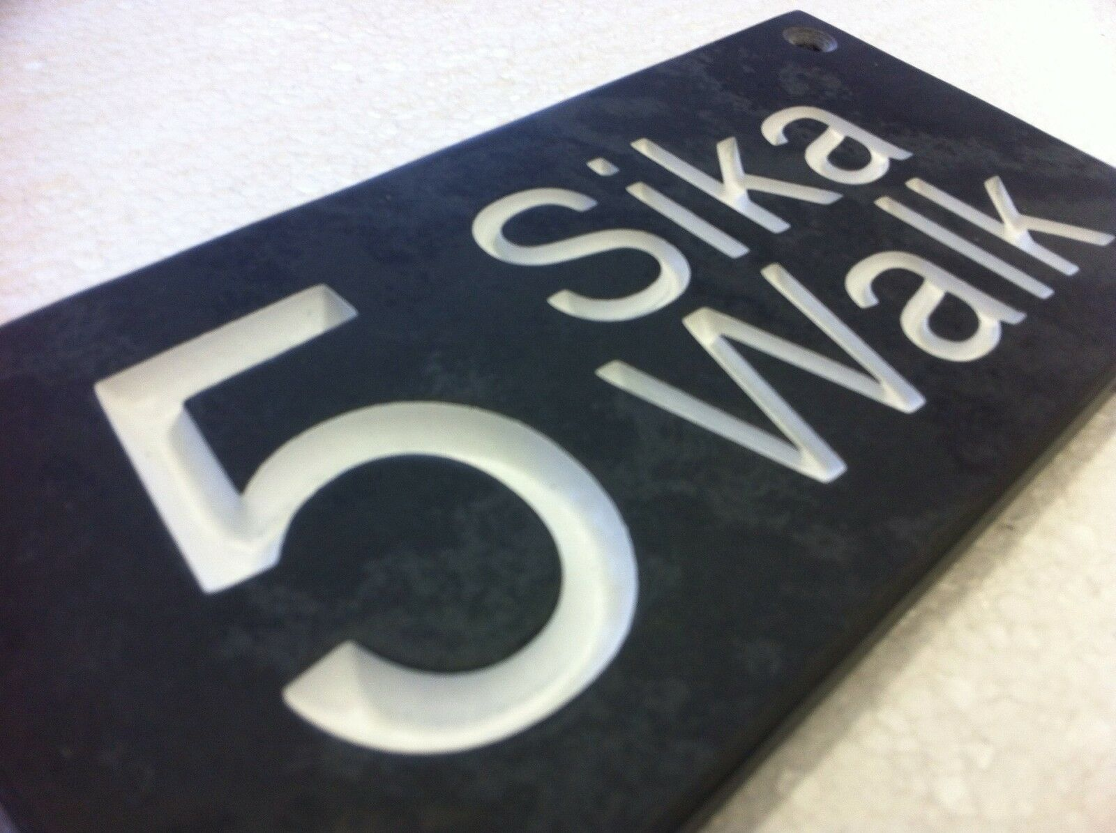Natural Slate House Sign Deeply Engraved To Your Requirements 12  8
