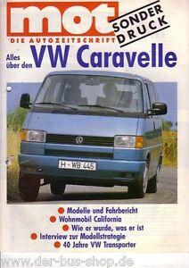 VW-Bus-T4-Prospekt-Sonderdruck-MOT-Caravelle