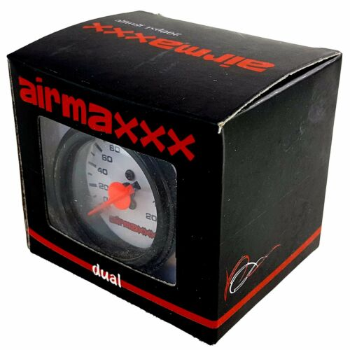 2 Dual Needle White Air Gauges /& 200psi Display Panel with 4 Paddle Switches