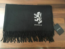 Unisex Pringle of Scotland 100% Cashmere Oversize Nero Sciarpa / Scialle-Rrp £ 450