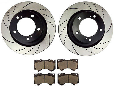 Front Rotors And Ceramic Pads For 2008 2009 2010 2011 2012-2018 Tundra Sequoia