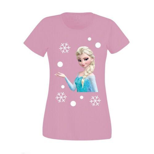 Nouveau Haut Femmes Noël frozen elsa flocons de neige Nouveauté T-Shirt Haut S-XXL