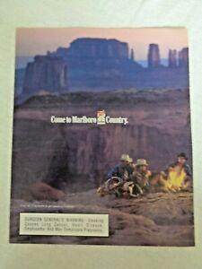1998-Print-Ad-Monument-Valley-Utah-Camping-Campfire-Cowboys-Marlboro-Cigarettes
