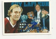 2001 Score Autographed Hockey Card Guy LaFleur Montreal Canadiens #402
