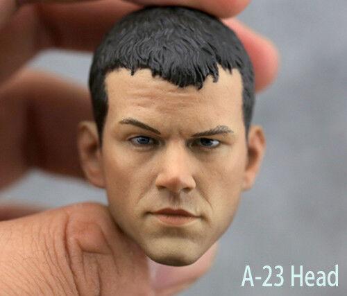 1//6 Matt Damon Head Sculpt A-23 Green Zone Fit 12/'/' Male Body Action Figure