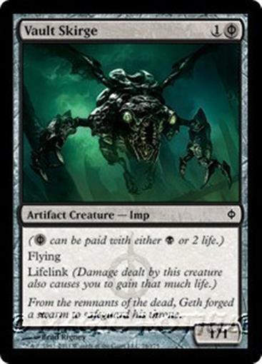 VAULT SKIRGE New Phyrexia MTG Black Artifact Creature — Imp Com