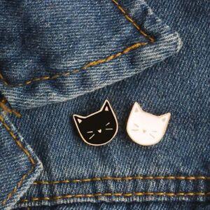 2-Pcs-set-Hot-Cartoon-Cute-Cat-Animal-Enamel-Brooch-Pin-Badge-Decorative-Jewelry