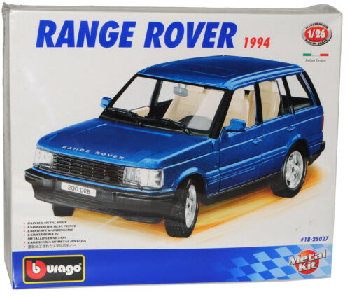 Range Rover Blau 1994 Metall Bausatz Kit 1//24 Bburago Burago Modellauto Modell A