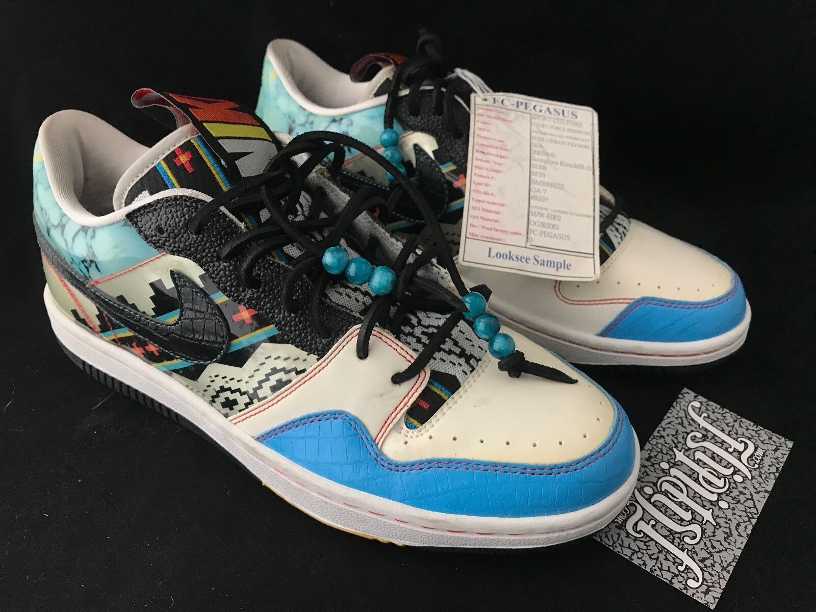 VTG NIKE COURT FORCE PREMIUM SAMPLE MEXICAN BLANKET TRIBAL SB DUNK WTD RARE SZ 9