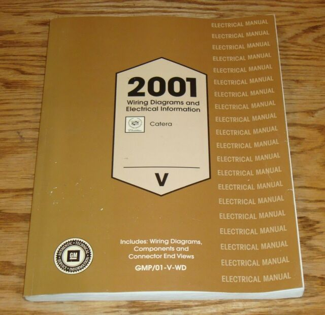 Original 2001 Cadillac Catera Electrical Wiring Diagrams Manual 01