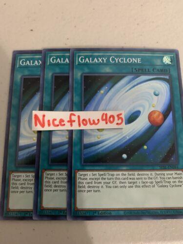 GALAXY CYCLONE 3X SUPER SESL-EN044 1st EDITION YUGIOH