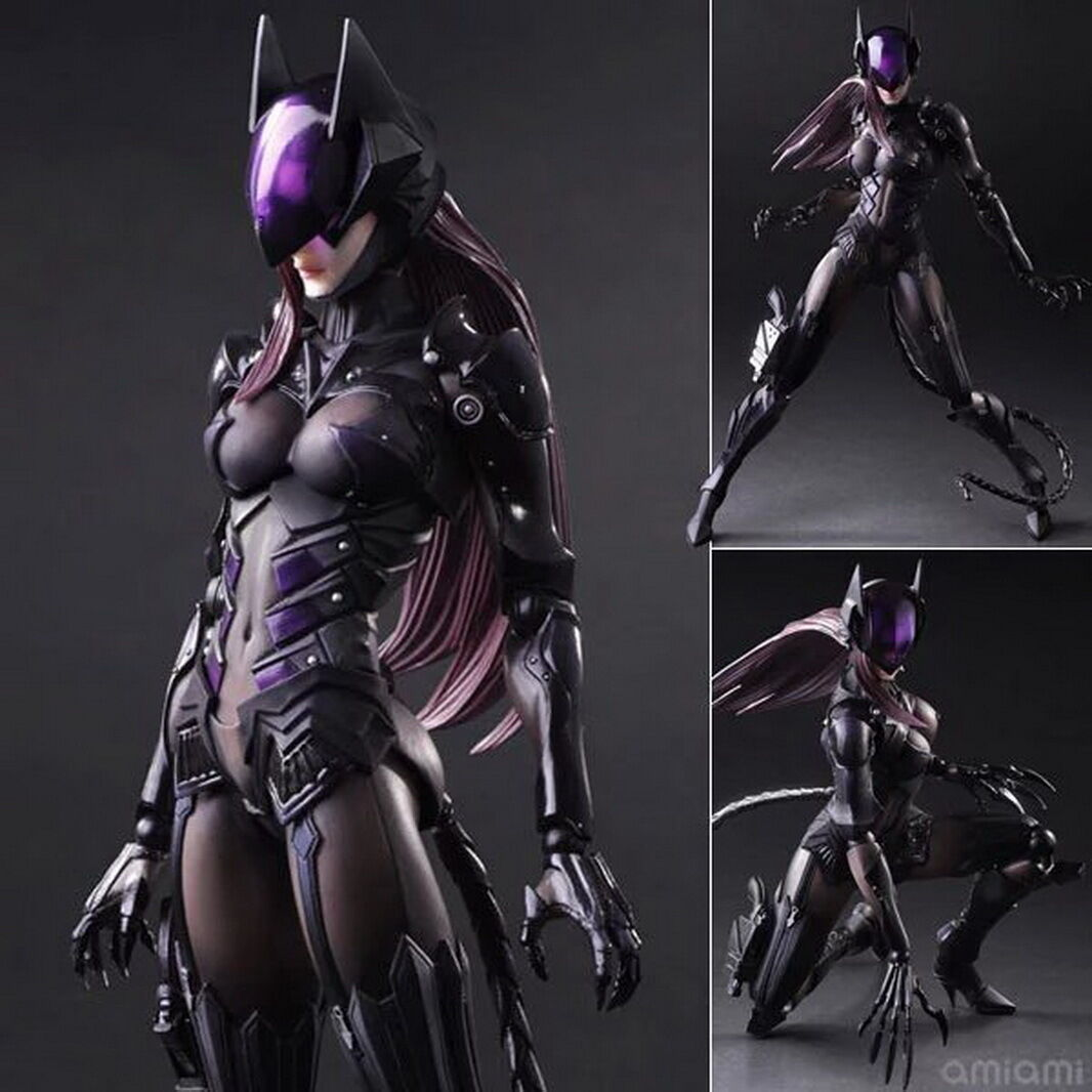 Play Arts PA Kai Batman Catwoman Cat Woman Selina Kyle Action Figure Toy Doll