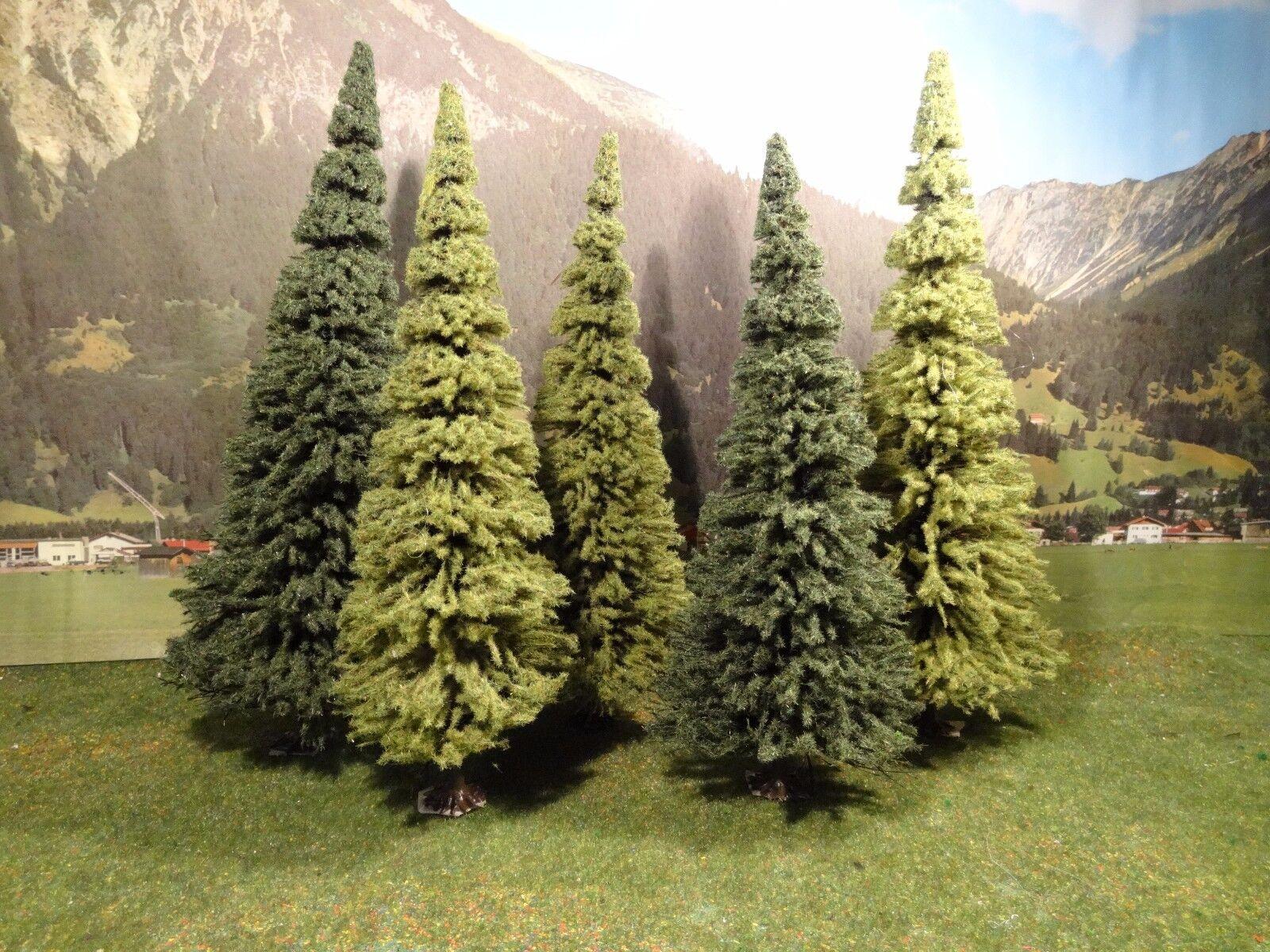 Traccia G per LGB Treno Giardino Alberi la raccolta 5 pezzi di circa 28 cm fino a 30 cm di altezza