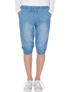 Damen Short Kurze Sommer Hose knielange Sommerhose