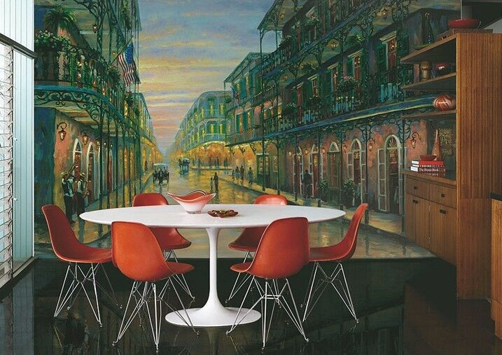 3D Old Town 1 Wall Print Decal Wall Deco Indoor wall Murals
