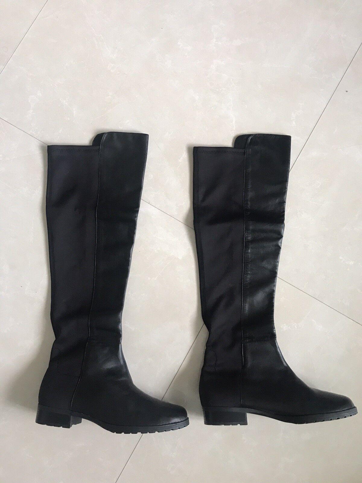 Nuevas botas de de botas cuero negro Ralph Lauren Talla 8.5  239 9e6624