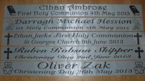 baptême nommage jour 1er communion jour bannière Personnalisé baptême