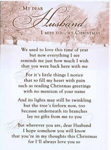 Grave-Card-Christmas-Husband-with-FREE-Holder-CM09-Memorial-amp-Funeral