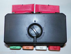 new bussmann fuse box 32145 0 3200 series duel electrical center rv rh ebay com bussmann fuse box terminals bussmann fuse box covers
