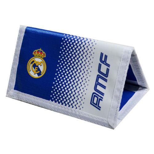 REAL MADRID FC FADE MONEY WALLET PURSE NOTES COIN CARD HOLDER MEN NEW XMAS GIFT