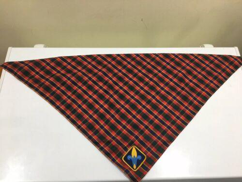 Cub Scouts Webelos Neckerchief Plaid Scarf Triangle Neck Wrap BSA Cloth C962
