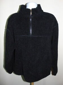 Most-Wanted-Black-Half-Zip-Mock-Neck-Fleece-Pullover-Men-039-s-Size-Large-NWOT