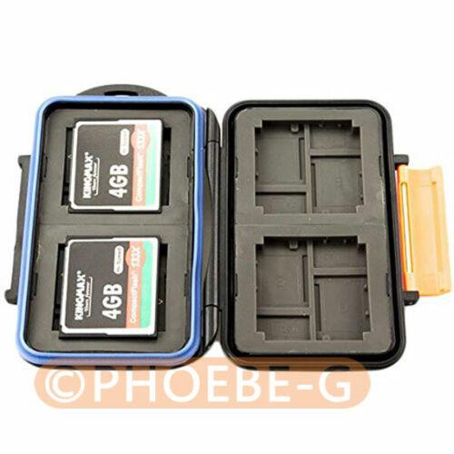 Impermeable caso de tarjeta de memoria extremadamente dura MC-4 para 4CF 8XD 8 Tarjetas Micro Sd