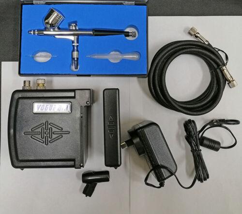 HSeng Portable Mini Air Compressor w//Airbrush