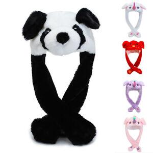 Tik-Tok-Cute-Plush-Panda-Pinching-Pig-Ear-Hat-Can-Move-Airbag-Cap-Gift-Kid-Wo-GB
