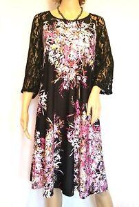 Details about NEW ~Julian Taylor~ Women\'s~ 3/4 Lace Sleeve~Trapeze Dress  PLUS SIZE 20 W