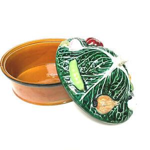 Vintage Majolica Decorative Vegetable Tureen Covered Dish Sigma Portugal