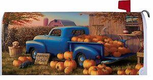 Custom Decor Blue Pumpkin Truck - Magnetic Mailbox Cover 2905MM - Deutschland - Custom Decor Blue Pumpkin Truck - Magnetic Mailbox Cover 2905MM - Deutschland